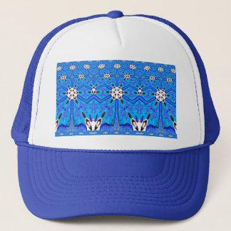 casquette de bleu de dessin géométrique
