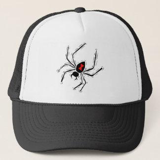 Casquette de camionneur d'araignée de veuve noire