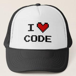 Casquette de camionneur de code du coeur I pour