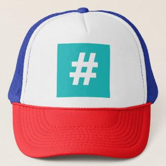 Casquette de camionneur de Hipstar Hashtag (bleu)