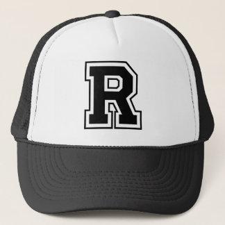 """Casquette de camionneur de la lettre """"R"""""""