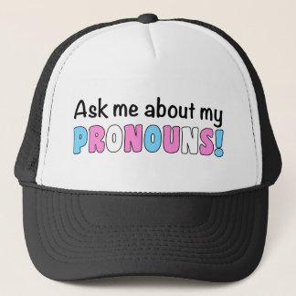 Casquette de camionneur de pronoms (fierté de