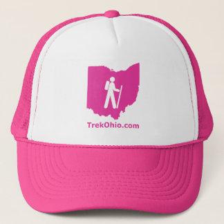 Casquette de camionneur de TrekOhio, rose indien