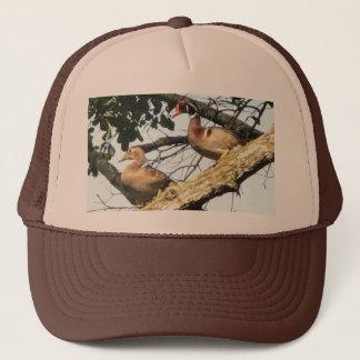 Casquette de canards en bois