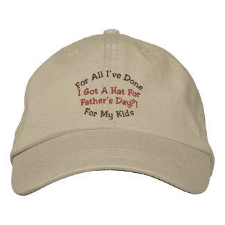 Casquette de casquette de fête des pères d'humour