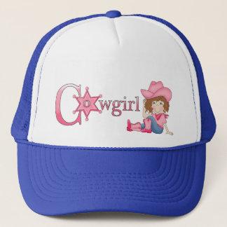 Casquette de cheveux de Brown de cow-girl