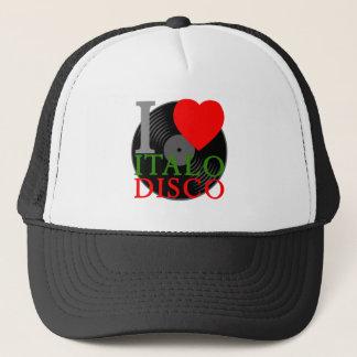 Casquette De Corey rétro I T-shirt de disco d'Italo d'amour
