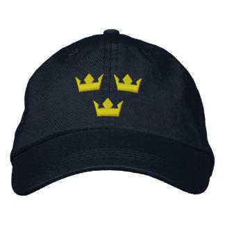 Casquette de couronnes de la Suède Tre