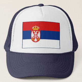 Casquette de drapeau de la Serbie