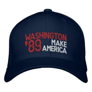 """Casquette de George Washington """"faites l'Amérique"""""""
