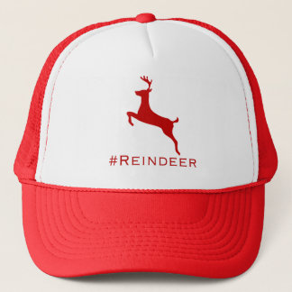 casquette de hashtag de #Reindeer