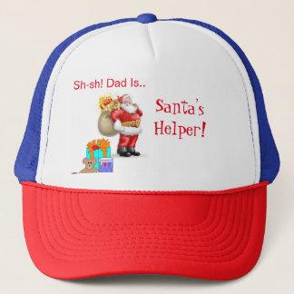 Casquette de l'aide de Père Noël pour le papa
