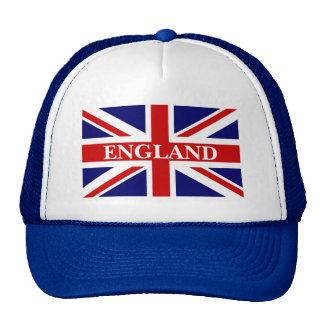 Casquette de l'Angleterre avec le drapeau