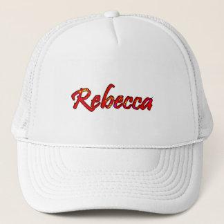 Casquette de maille de Rebecca dans le style blanc