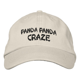 Casquette de manie de panda de panda