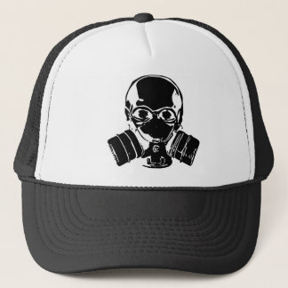 Casquette de masque de gaz de crâne