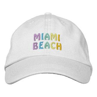 Casquette de MIAMI BEACH Chapeau Brodé