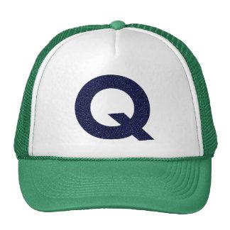Casquette de monogramme, capital Q avec le