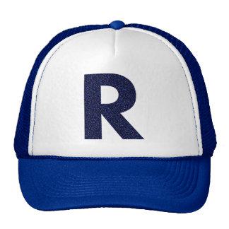Casquette de monogramme, capital R avec le