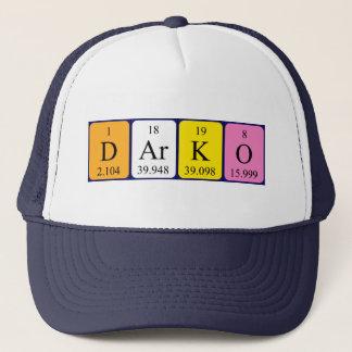 Casquette de nom de table périodique de Darko