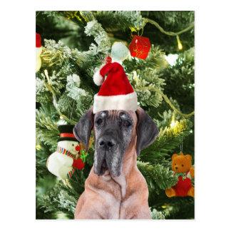 Casquette de Père Noël de boîtes-cadeau d'arbre de Cartes Postales