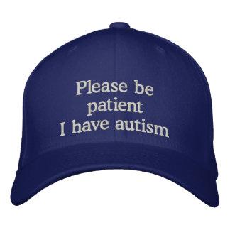 Casquette de sensibilisation sur l'autisme chapeau brodé