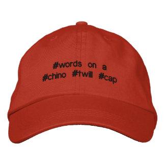 casquette de sergé de hashtag, certainement
