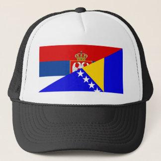 Casquette de symbole de pays de drapeau de la Serbie