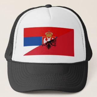 Casquette de symbole de pays de drapeau de la Serbie Albanie