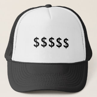 Casquette de symbole dollar