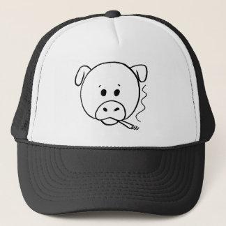 Casquette de tabagisme de porc