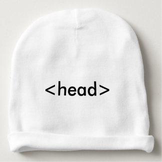 Casquette de tête de geek de HTML de programmeur Bonnet Pour Bébé