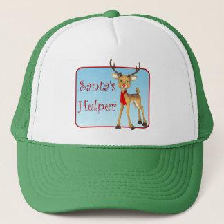 Casquette de vert de renne de vacances de l'aide