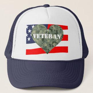 Casquette de vétérans de coeur de camouflage