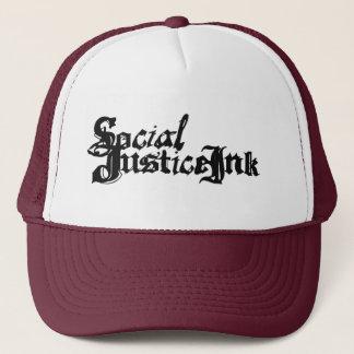 Casquette d'encre de justice sociale (blanc et