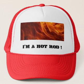 Casquette des flammes, je suis un HOT ROD !