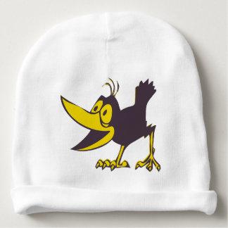 Casquette d'hiver d'enfants - corneille drôle de bonnet pour bébé