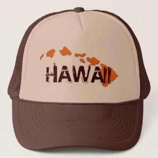 Casquette d'orange de brun d'îles d'Hawaï