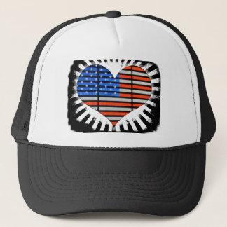 Casquette Drapeau américain en forme de coeur patriotique