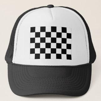Casquette Drapeau Checkered noir et blanc d'emballage