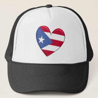 Casquette Drapeau de coeur de Porto Rico