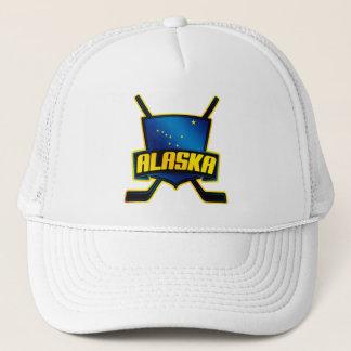Casquette Drapeau de hockey sur glace de l'Alaska