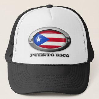 Casquette Drapeau de Porto Rico dans le cadre en acier