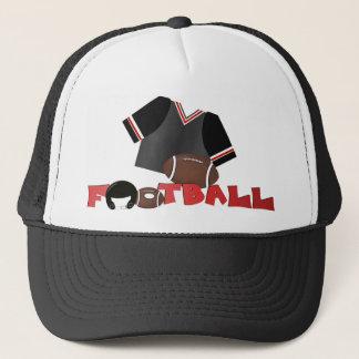 Casquette du football/casquette rouges et noirs