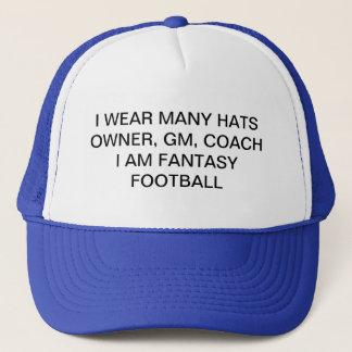 casquette du football d'imaginaire