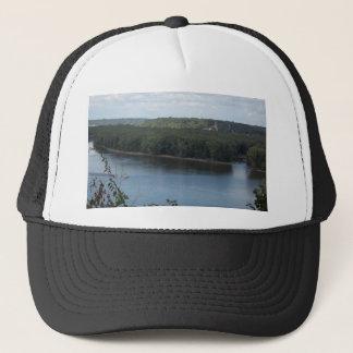 Casquette Dubuque est sur le fleuve Mississippi