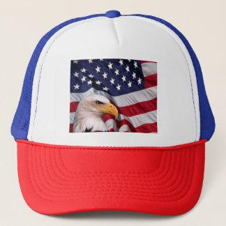 Casquette Eagle chauve américain avec le drapeau américain