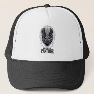 Casquette Emblème de tête de panthère noire de la panthère