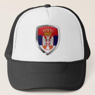 Casquette Emblème métallique de la Serbie