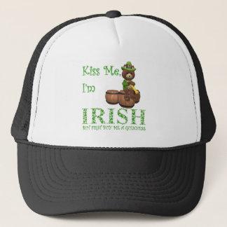 Casquette Embrassez moi que je suis irlandais, mais le